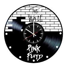 basalt unique vinyl clock handmade original vinyl wall clock pink floyd the wall vinyl record wall clock fan art handmade decor unique decorative