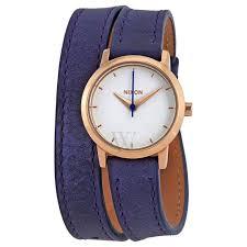 nixon a4031675 women s kenzi wrap double wrap leather white dial