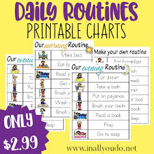 Daily Routines Printable Charts In All You Do