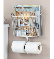 Chrome Toilet Paper Holder Magazine Rack Magnificent Magazine And Toilet Paper Holder In Bathroom Magazine Racks