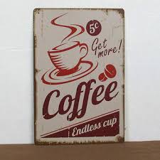get quotations free shipping the vintage coffee endless cup service tin signs bar pub home wall decor retro on vintage metal art wall decor with cheap metal coffee wall art find metal coffee wall art deals on