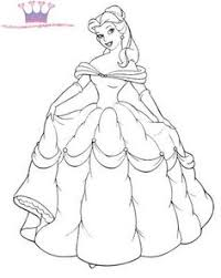 Small Picture Princess Belle And Horse Coloring Pages DISNEY COLORING PAGES