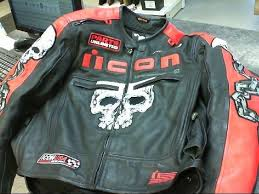 icon motorhead red skull armored leather jacket bpl019685 1 of 8 see more