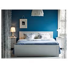 BRUSALI Bed frame White luröy Standard Double IKEA