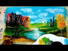 how to paint easy abstract landscape