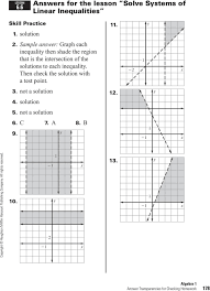 sample answer graph each inequality then shade the region that is the intersection of