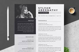 One Page Resume Cv Template Cover Letter Templates Creative Market