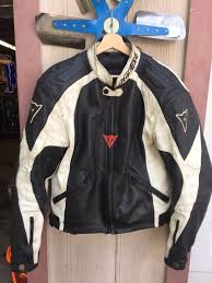 dainese tattoo leather jacket eu50 sportbike gsxr r1 ninja cbr