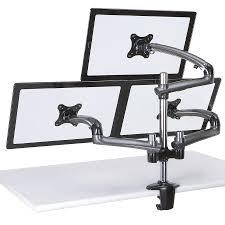 desk workstation desk screen brackets wall mount dual monitor arm universal monitor mount adjule monitor