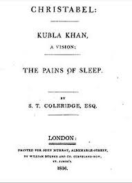 kubla khan  title page of christabel kubla khan and the pains of sleep 1816