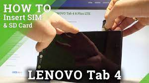 How to Insert SIM and SD in LENOVO Tab 4 - Install SIM & SD Card