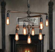 black iron pipe lights industrial water pipe lamps black or brass finished 9 arm iron diy black iron pipe