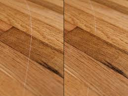 how to fix scratched hardwood floors