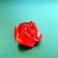 How To Make Flower With Paper Folding Origami Rose In Bloom 11 Steps With Pictures