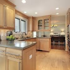 Kitchen Colors With Light Wood Cabinets Custom Design Inspiration