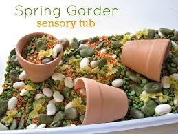 garden crafts. Garden Sensory Tub Crafts