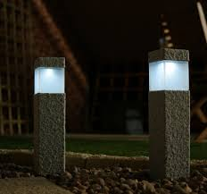 Small Picture granite modern lamp post fixtures Square Stone Solar Post Lamps