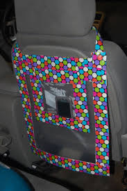 Duct Tape car organizer using two gallon size Ziploc bag, and one quart  Ziploc