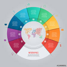 Vector Pie Chart Template For Graphs Charts Diagrams