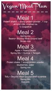 A Vegan Meal Plan Based Off Of 1450 1500 Calories