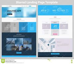 Material Design Website Template One Page Website Design Stock Vector Illustration Of Paper