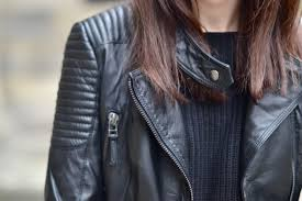 fashion womens shoulder pads quilted sheepskin leather motorcycle coat jacket