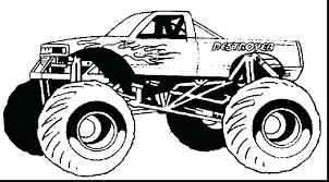 Monster Truck Coloring Pages Monster Truck Coloring Pages To Print
