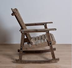 Outdoor Furniture Wooden Rocking Chair Rustic American Country Style