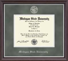 michigan state university diploma frame alternative views