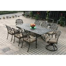 piece dining set cushions thre