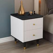 white nightstand with drawer small