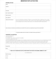 student application template membership application template free word documents student