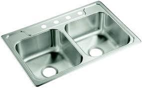 Sterling Plumbing 14708 4 Na Middleton Kitcken Sink Ss Dbl 33x22
