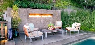 Outdoor Patio Landscaping Designs With Grill And Fireplace
