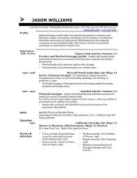 example resume uk