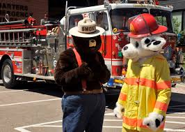 sparky the fire dog. smokey bear and sparky the fire dog make an appearance at air force academy ?