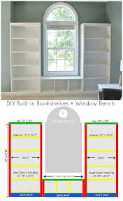 diy window seat plans. Unique Seat DIY Builtin Bookshelves  Window Bench Plans With Beadboard And Rope Trim  Molding On Diy Seat G