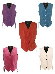 women s leather vest tap to expand