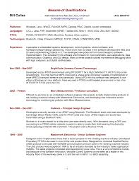 Resume Summary Examples Resume Qualification Statement Tolgjcmanagementco 60