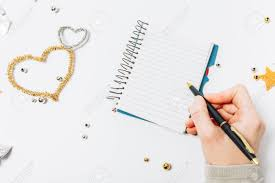 Make A List Com Top View Of Women Writing A Goal To Make A List For The New Year Or