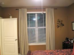 Cool White Bedroom Curtains With Horizontal Blinds White Frames Windows  Also Sweet Single White Doors And Nice Floral Covering Master Bed In  Amazing Brown ...