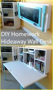 diy wall mounted desk kids homework hideaway wall desk tutorial wall mounted desk free plans instructions