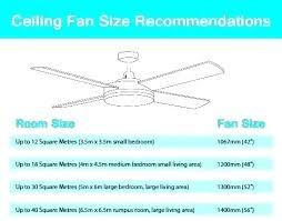ceiling fan size chart ceiling fans room size chart fan guide to sizes best for bedroom