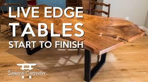 Image Wood Furniture Building Live Edge Tables Start To Finish Youtube Building Live Edge Tables Start To Finish Youtube