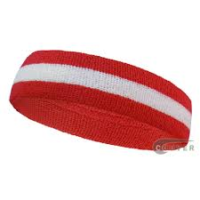 red white red whole headband sweat 2color stripe