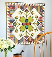 applique wall hanging quilt patterns free wall mounted quilt rack plans picket fence blooms wall hanging