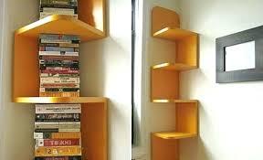 modern corner bookcase bookshelf built in shelves