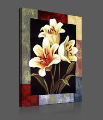 flowers on canvas paintings best painting 2018