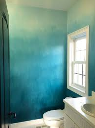 Turquoise Wall Paint Operation Ombre Turquoise Dip Dyed Painted Wall Treatment Tutorial