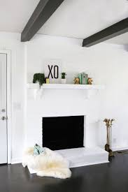 painted white brick fireplaceHow to Paint Brick and Stone  A Beautiful Mess
